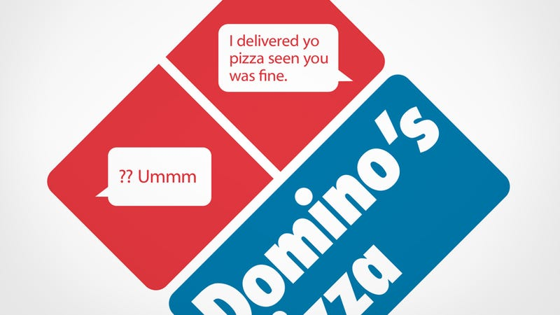 Illustration for article titled Texts from Domino's Pizza Delivery Men: 'I Delivered Yo Pizza Seen You Was Fine'