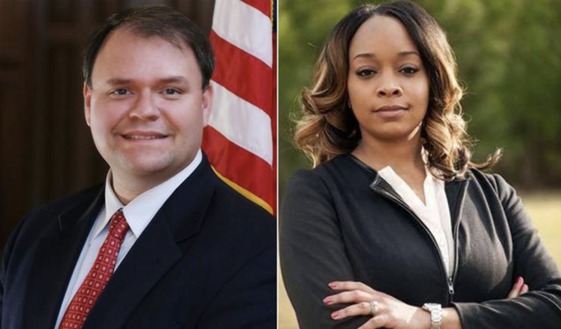 Georgia state Rep. Jason Spencer; former state Rep. LaDawn Blackett Jones (Georgia House of Representatives website)
