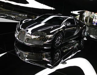 Illustration for article titled Mirror-Finished Bugatti Veyron Blindingly Ushers in New Autostadt