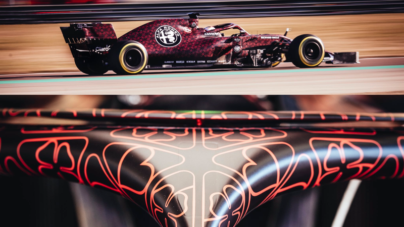 Illustration for article titled Alfa Romeo F1 Just Needs to Run Its Valentine's Day Livery All Year