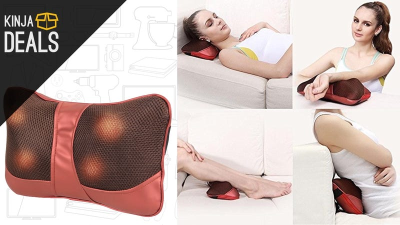 Illustration for article titled Soothe Your Muscles With This $25 Massage Pillow