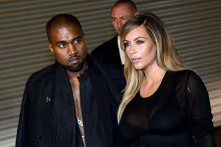 Kanye West and Kim KardashianPIERRE ANDRIEU/AFP/Getty Images