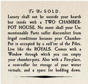Illustration for article titled Historical Archives: To Be Sold - Two Chamber Pot House