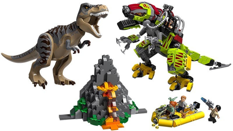 Jurassic World's T-Rex Fighting Mecha T-Rex Is the Lego Set of My Childhood Fantasies