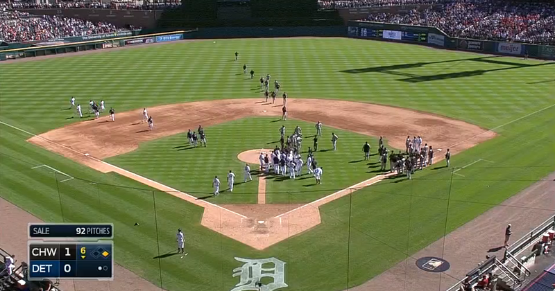 Chris Sale Plunks Victor Martinez Sparks Bench Clearing
