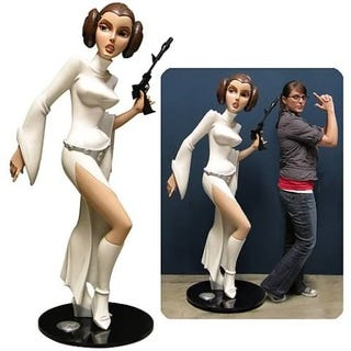 Illustration for article titled Life Size Animated Princess Leia Statue for You to Defile