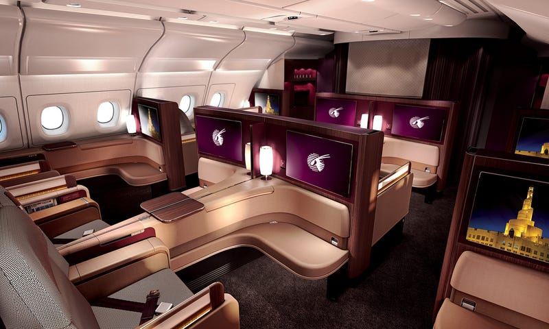 Illustration for article titled Qatar Airways New First Class Is Probably Nicer Than Where You Live