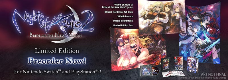 Illustration for article titled UNBOXING: Nights of Azure 2 Limited Edition