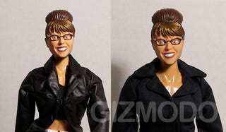 Illustration for article titled Sarah Palin Action Figure Can Kick Barbie's Ass