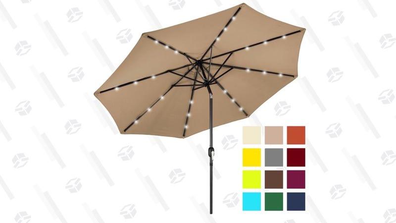 Solar LED Patio Umbrella | $50 | Best Choice Products | Promo code BCP10