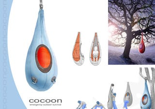 Illustration for article titled Survival Cocoon Lets you Hang out in Emergencies