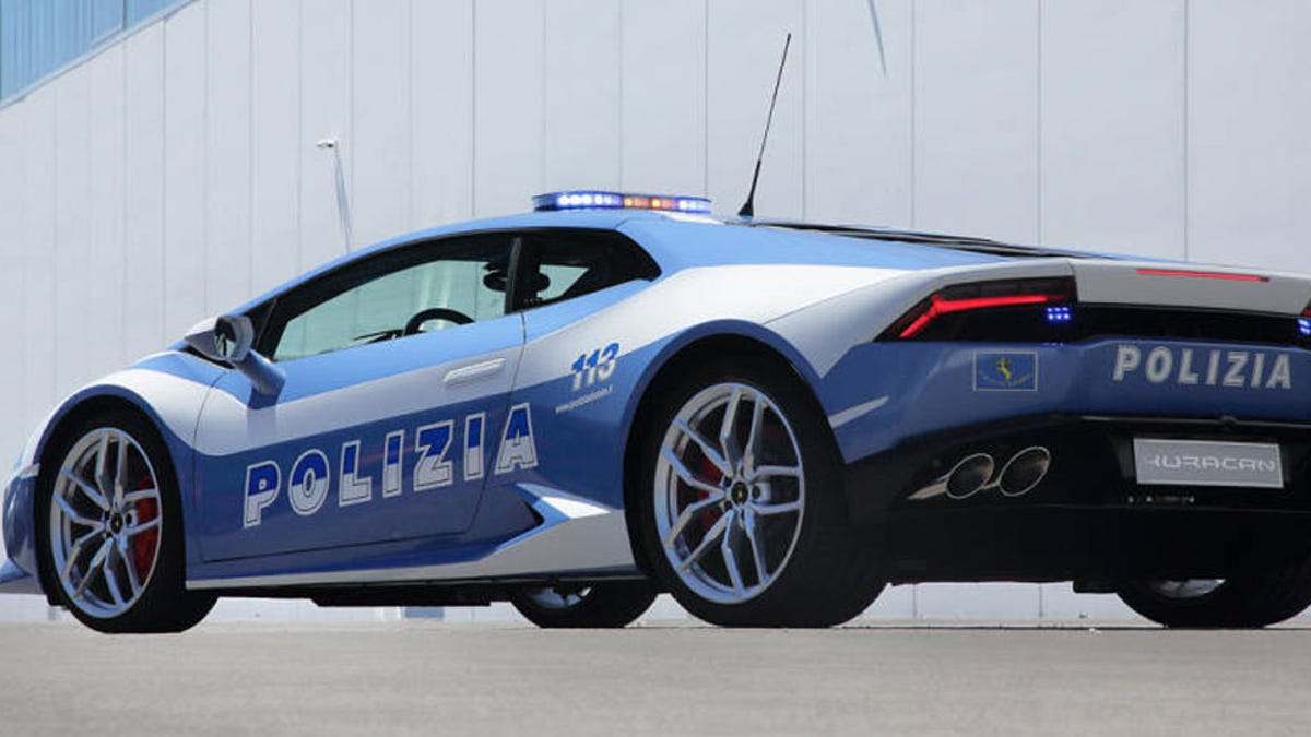 The Italian Police Now Have This Ridiculous Lamborghini Huracan