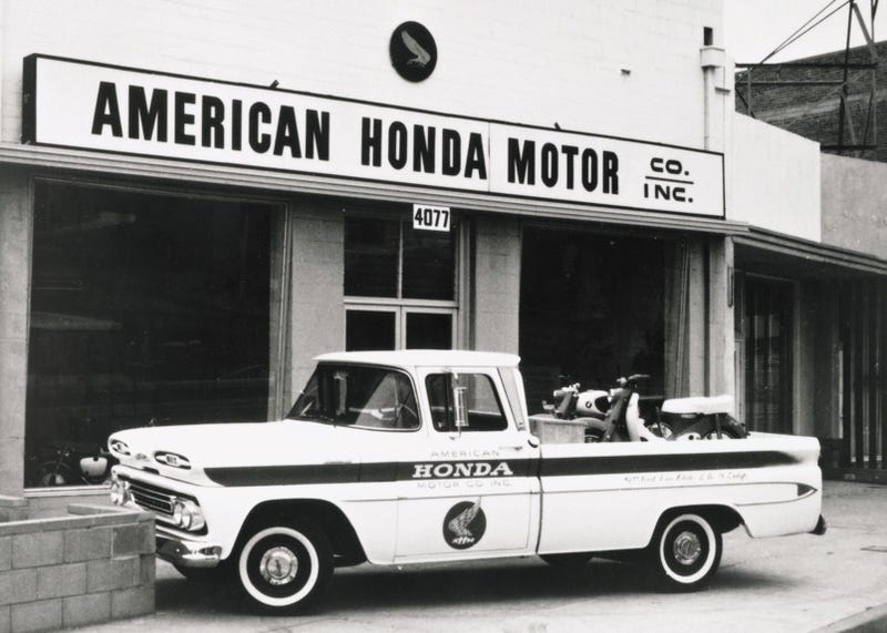 In 1959 Honda Established Itself Here The US Selling Motorcycles Out Of A Small Storefront LA Fifty Years Later Folks At Erected
