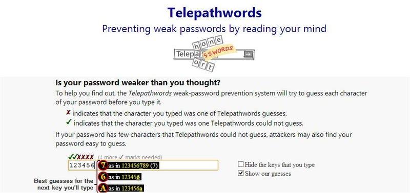 Una nueva web predice tus contraseñas, y te ayuda a mejorarlas