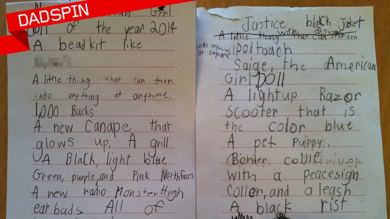 My Kid 39 S Insane Christmas Wish List Annotated
