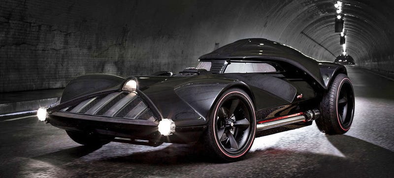 Illustration for article titled This 526 HP Darth Vader Corvette Is A Hot Wheels Dream Made Real