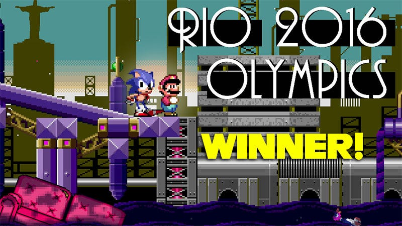 Illustration for article titled Kotaku'Shop Contest:Mario And SonicAt The Real Olympic Games: The Winners
