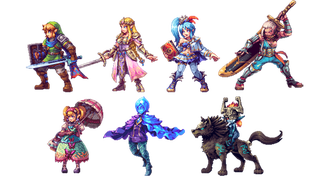 Illustration for article titled Hyrule Warriors Characters Are Awesome In 2D