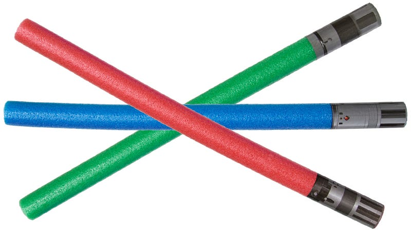 Illustration for article titled Has it Really Taken This Long For Lightsaber Pool Noodles to Exist?