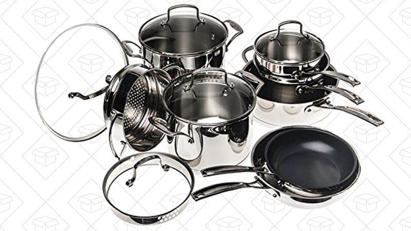 Cuisinart 13-Piece Stainless Steel Cookware Set, $170