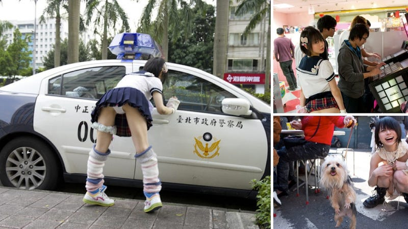Illustration for article titled Japanese Cosplayer Feels Heat For Flashing Taiwanese Police Car