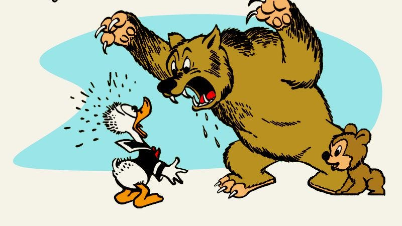 Illustration for article titled A classic Donald Duck comic reflects the season's spirit of revelation
