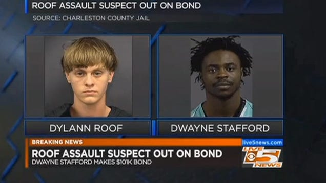 Man Who Beat Up Dylann Roof Is Out On Bond