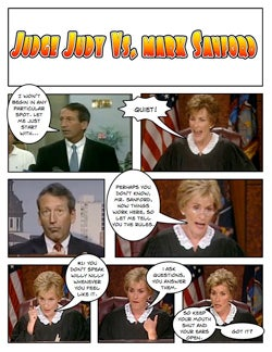 Illustration for article titled Comic Confrontations: Judge Judy Vs. Mark Sanford