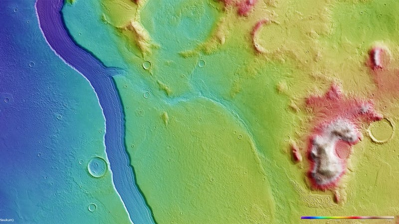 Illustration for article titled Scientists Discover Spectacular River on Mars