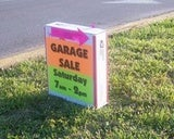 Illustration for article titled Make a Weighted Garage Sale Sign for Windproof Promotion