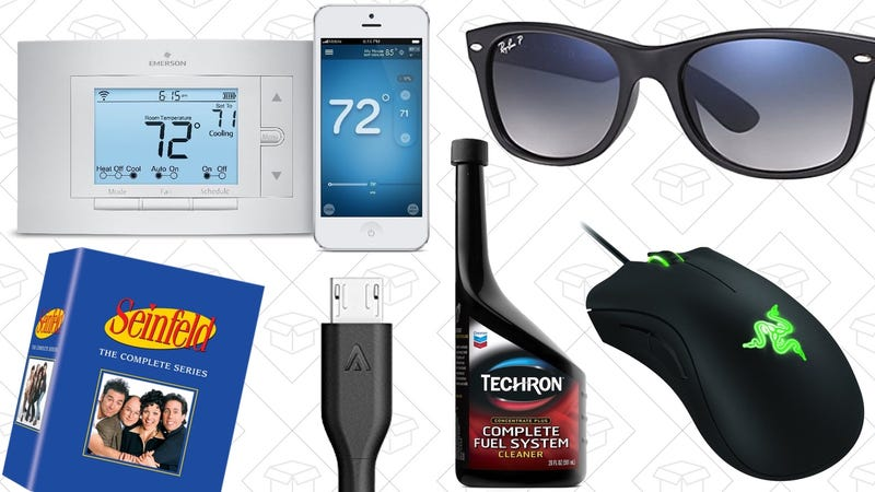 Illustration for article titled Saturday's Best Deals: Amazon Ray-Ban Sale, Smart Thermostat, $5 Off All Books