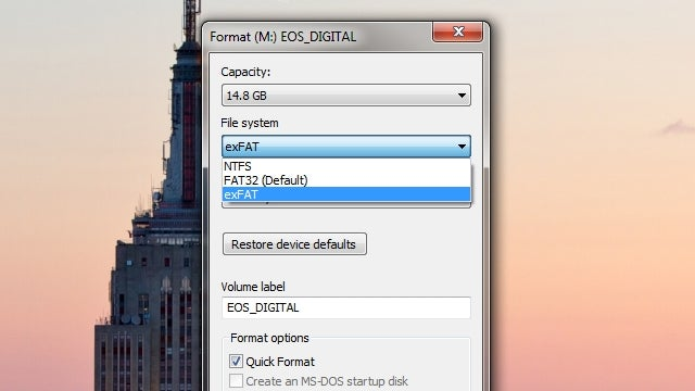 Use the exFAT File System and Never Format Your External