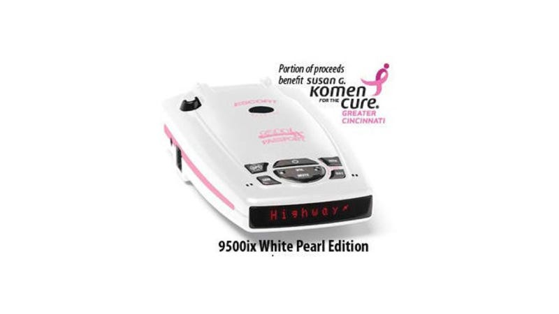 Illustration for article titled Does This Pink Radar Detector Take Breast-Cancer Branding Too Far?