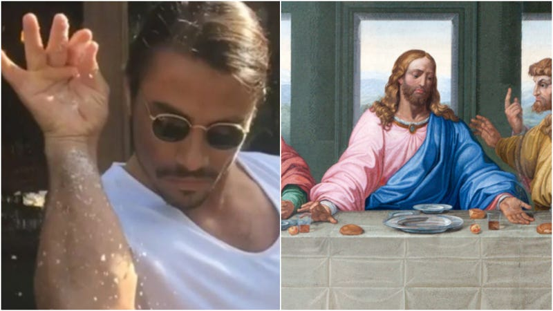 Illustration for article titled Photoshopped image of Last Supper with Salt Bae leads to journalist's arrest
