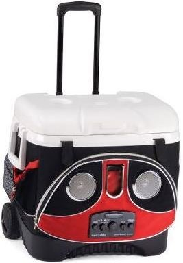 Illustration for article titled Igloo's Coolbox with Boombox on Wheels Looks Like a Transformer