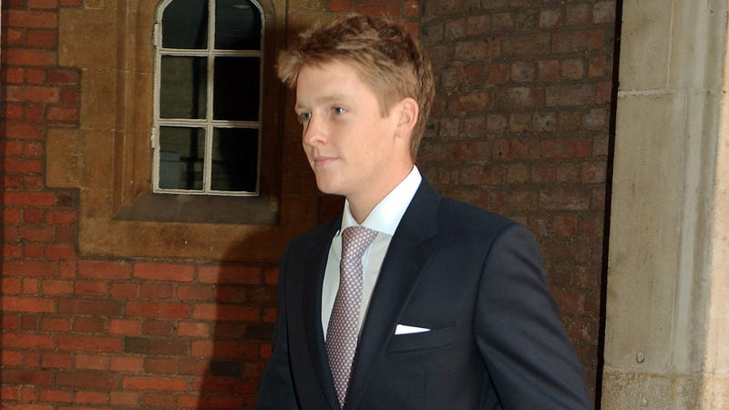 Photo of Hugh Grosvenor leaving the christening of his godson, Prince George. Photo via Getty Images.