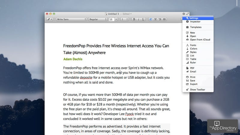 The number one advantage of Apple Pages over Microsoft Word for Mac is that it is free