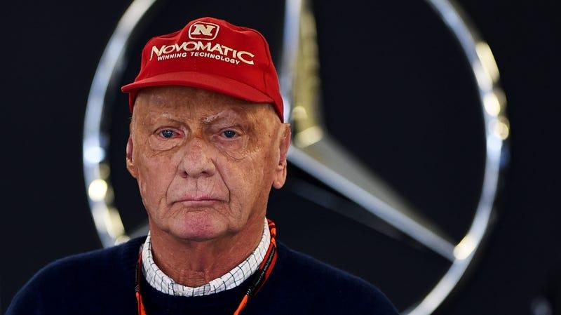 Niki Lauda at the Mexican Grand Prix in 2015.