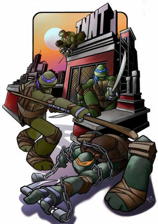Illustration for article titled Teenage Mutant Ninja Turtles By Rob Paolucci