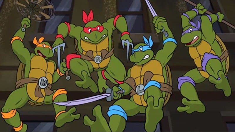 The Teenage Mutant Ninja Turtles.