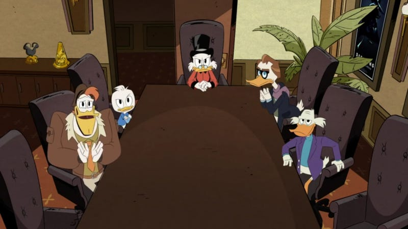 """Illustration for article titled The DuckTales bomb ends with the """"death"""" and """"birth"""" of Darkwing Duck"""