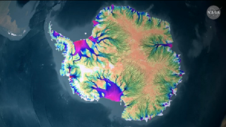 Illustration for article titled NASA Creates First Complete Map of Antarctica's Glacial Movements