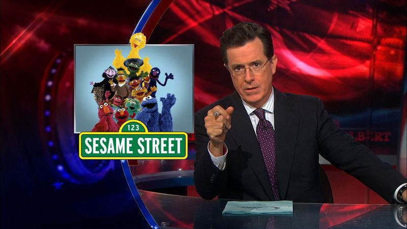 Colbert previously took on the childhood icons on The Colbert Report.