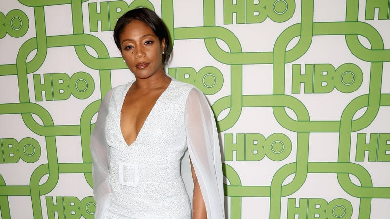 Tiffany Haddish, looking decidedly not pregnant, attends HBO's Official Golden Globe Awards After Party on January 6, 2019 in Los Angeles, California.