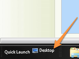 Illustration for article titled Easily Drag Items to the Desktop from Maximized Windows Using the Quick Launch Bar