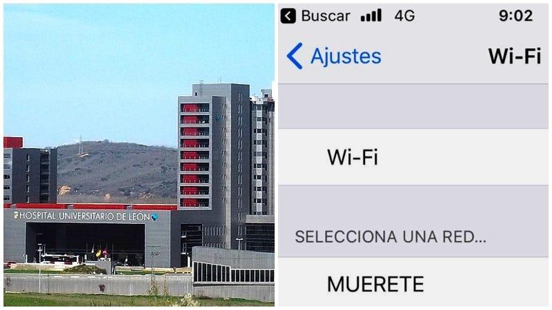 Illustration for article titled Nadie en el Hospital de León puede desactivar una red wifi llamada MUÉRETE (y los pacientes se están quejando)