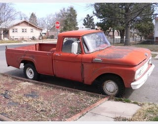 Illustration for article titled 1963 Ford Pickup Down On The Denver Street