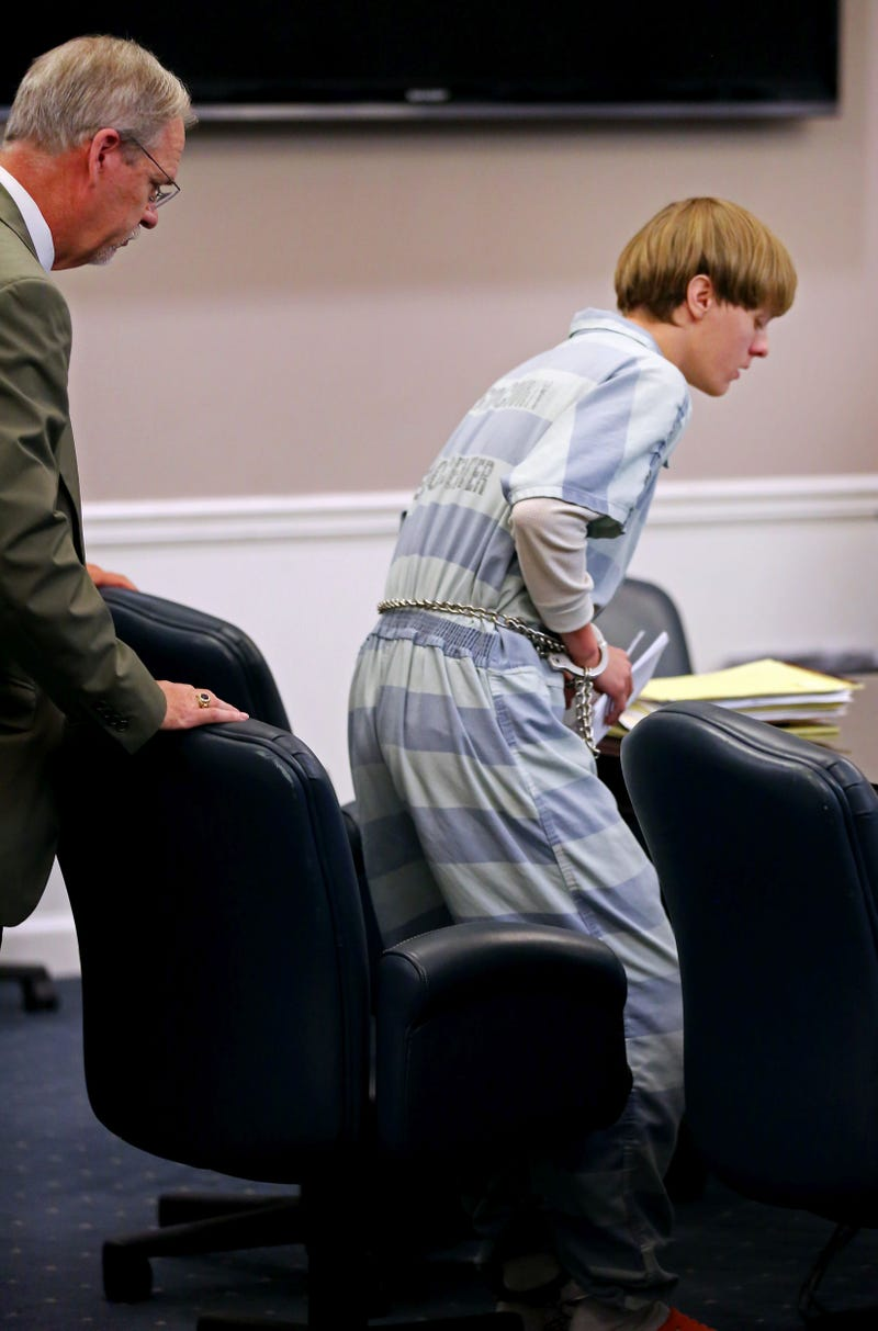 Dylan Roof, charged with the mass shooting that left nine people dead at Emanuel African Methodist Episcopal Church in Charleston, S.C., appears in court in Charleston on July 18, 2015.Grace Beahm-Pool/Getty Images