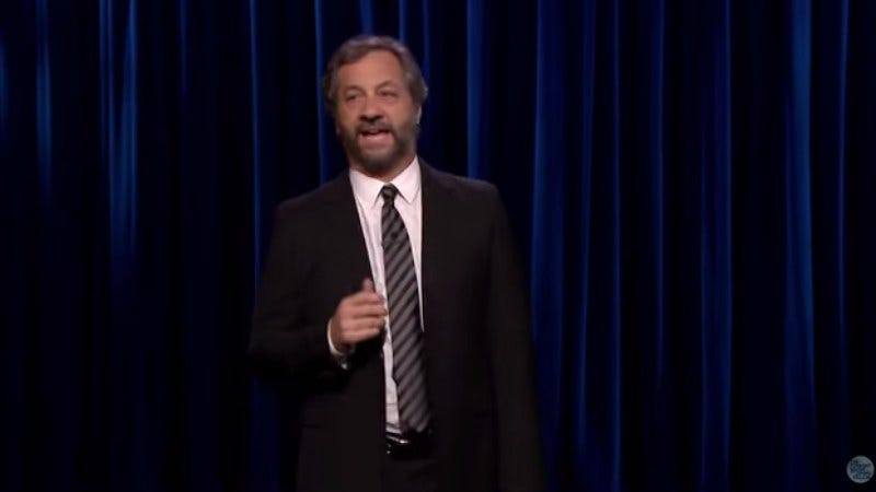 Illustration for article titled Judd Apatow did some seriously anti-Cosby stand-up on The Tonight Show