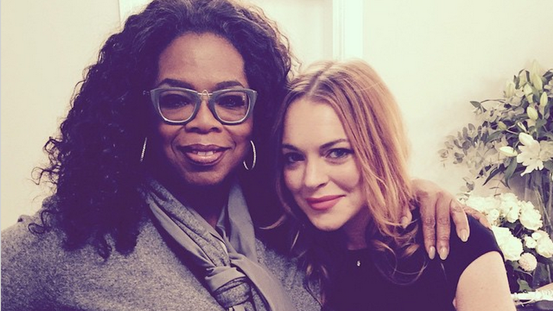 Illustration for article titled ​Oprah Went To See Lindsay Lohan Perform on Stage in London